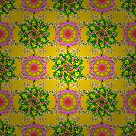 Spring summer time. Gentle romantic print. Holidays mood. Vector seamless cute flower pattern. Illustration