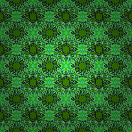 Floral green design pattern image illustration
