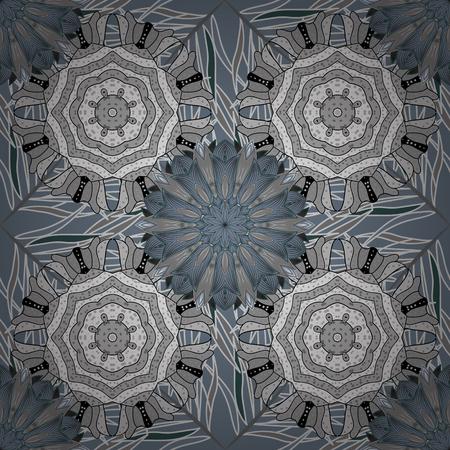 Flourish ornamental spring garden texture. Vector illustration. Floral pattern. Flower seamless background. Illustration