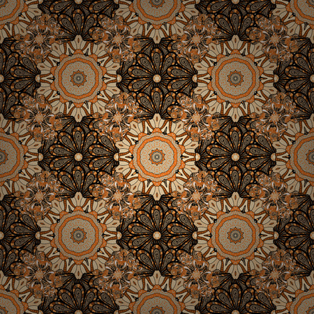 Vector Nice fabric pattern. Abstract elegance seamless pattern with floral background. Иллюстрация