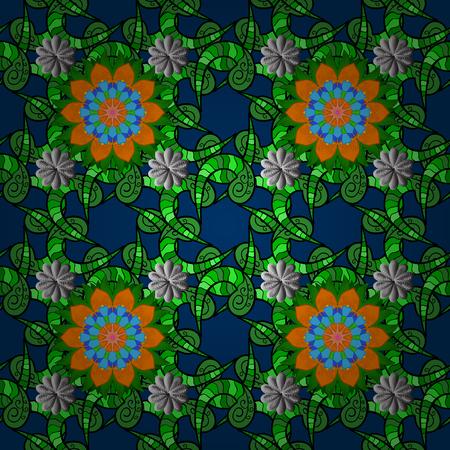 Circular floral inspired pattern design illustration Illustration