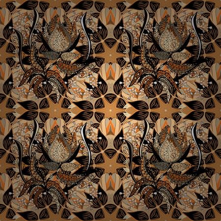 Beau motif de tissu. Trendy Seamless Floral Pattern In Vector illustration. Conception d'éléments de fleur plate. Arrière-plan transparent de couleur thème été. Banque d'images - 97886781