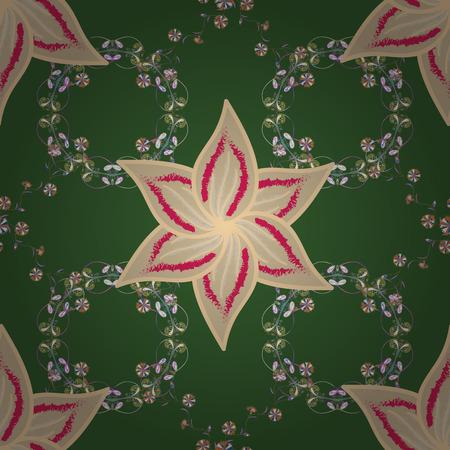 원활한 벡터 패턴입니다. 좋은 패브릭 패턴. 꽃 배경입니다.