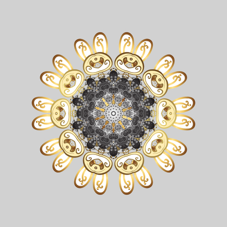 Abstract snowflake colored picture on gray background.