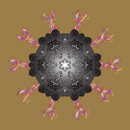 Snowflakes pattern. Snowflakes background. Snowflake ornamental pattern. Illustration