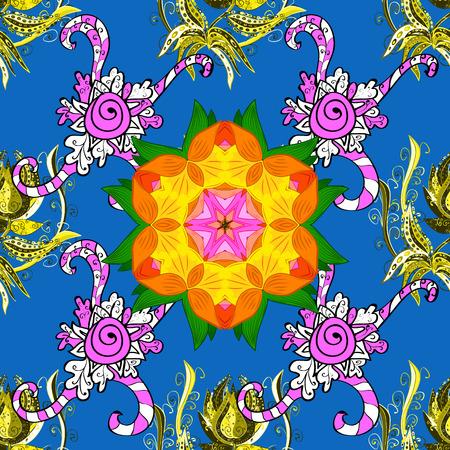 Seamless pattern with Mandalas. Raster ornaments, background. Seamless pattern with abstract ornament.