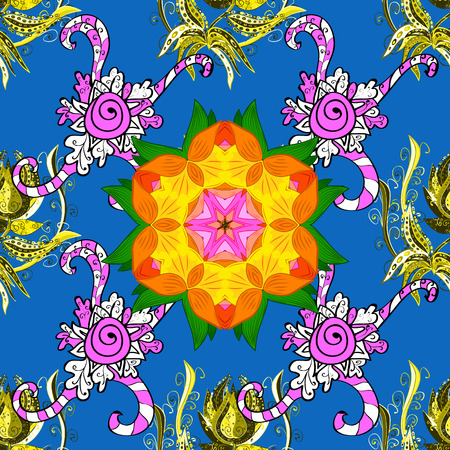 Seamless pattern with Mandalas. Raster ornaments, background. Seamless pattern with abstract ornament.