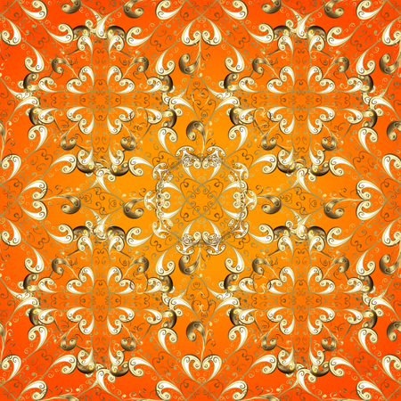 Graphic modern seamless pattern on colorful background. Seamless raster background. Wallpaper baroque, damask. Seamless floral pattern.