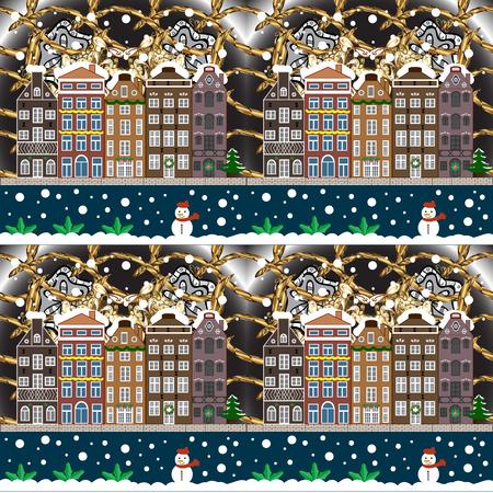 Christmas and Happy New Year greeting card. Holidays Raster illustration. Raster illustration. Иллюстрация