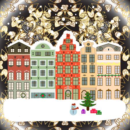 Holidays Raster illustration. Raster illustration. Christmas and Happy New Year greeting card. 向量圖像