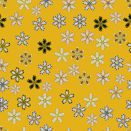 Fashionable fabric pattern. Cute Floral pattern in the small flower. Seamless Tony fabric pattern. Vector illustration.