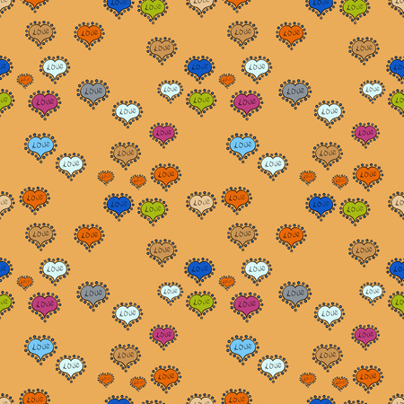 Valentine heart love seamless pattern with heart. Heart pattern. Seamless vector love background. Ilustrace