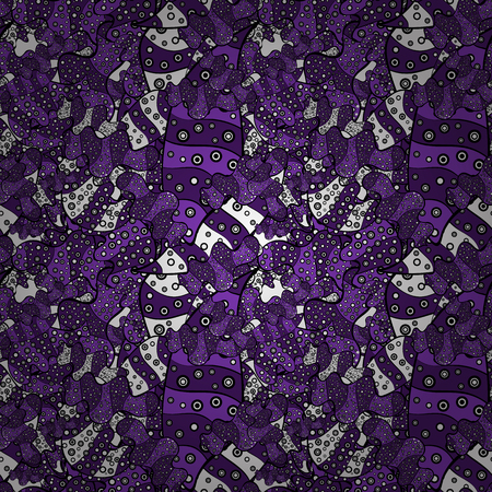 Purple and white abstract seamless pattern illustration
