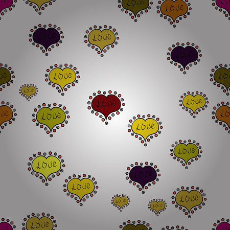 Valentine heart love seamless pattern with heart. Heart pattern. Seamless vector love background. Çizim
