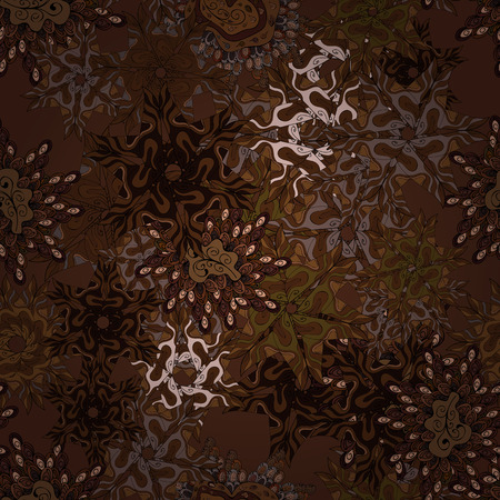 Pattern vector brown, black and gray on colors seamless abstract retro background design, tender fabric pattern.