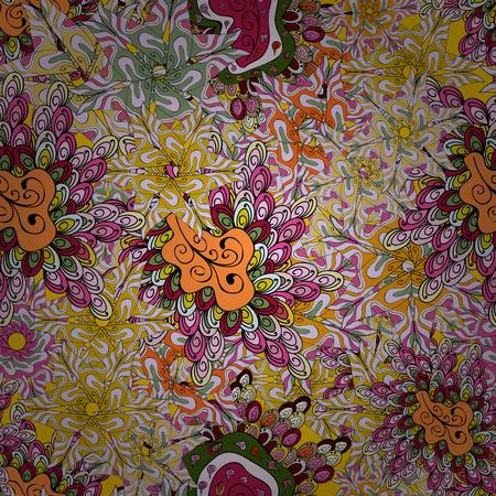 Ultra fashionable fabric pattern seamless pattern. Abstract motif background.