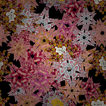 Tender fabric pattern in pink, black and gray colors.