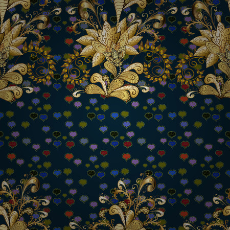 Seamless royal luxury golden baroque damask vintage. 일러스트