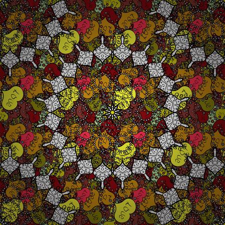 Bohemian decorative element, indian henna design, vector retro.