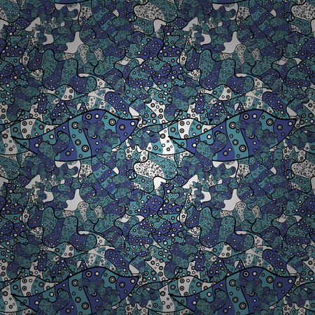 Abstract fabric pattern template vector illustration