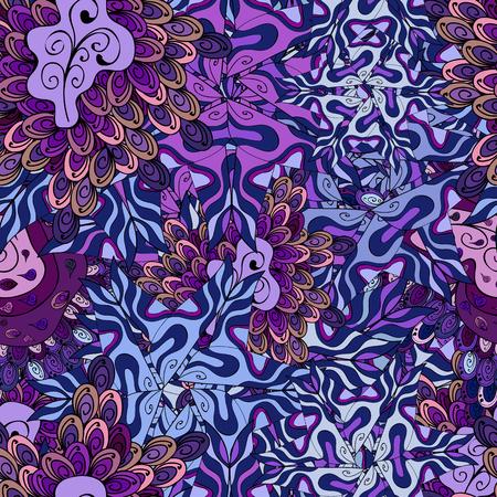 Abstract motif background. Seamless pattern. Ultrafashionable fabric pattern. Vector illustration.