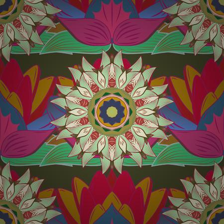 Vector watercolor floral pattern Ilustração