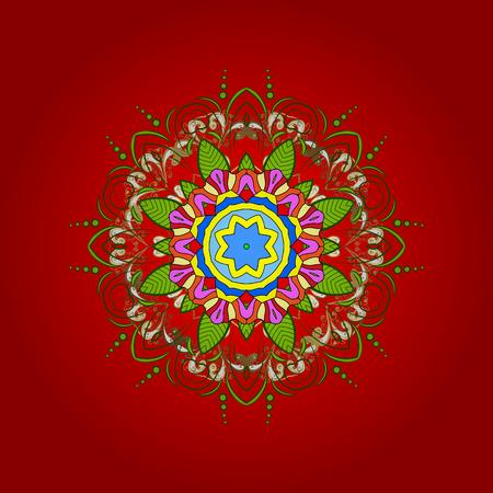 Decorative Texture Background of Mandalas. Vector illustration. Stylized Flowers.