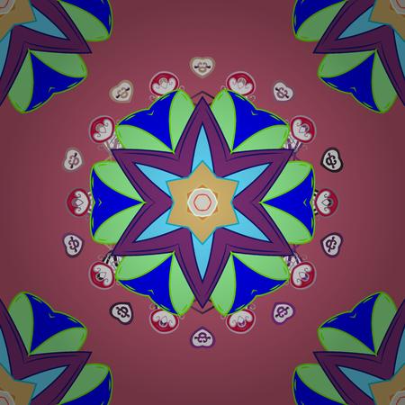 Decorative ornate round mandala. Illustration