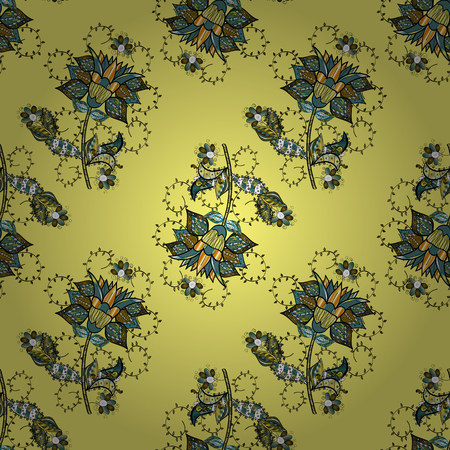 Floral background. Seamless vector pattern. Nice fabric pattern.