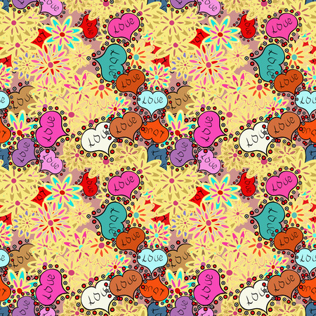 Valentine heart love seamless pattern with heart. Heart pattern. Seamless vector love background. Illustration