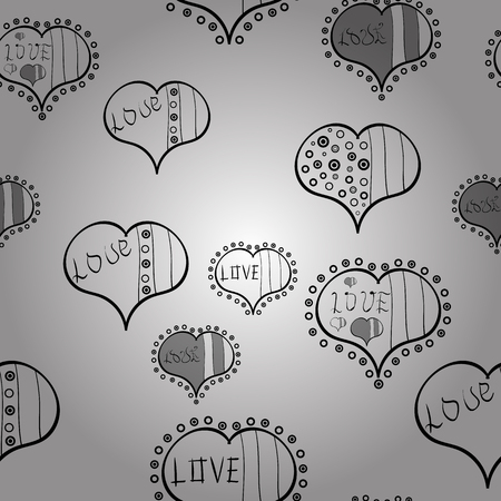 Heart pattern. Seamless vector love background. Valentine heart love seamless pattern with heart.
