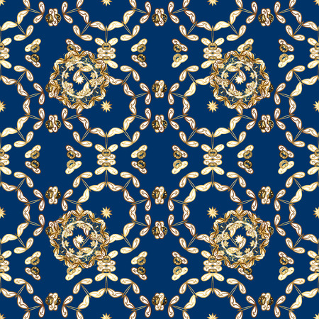 It can be used on wallpaper, mug prints, baby apparels, wrapping boxes etc. Vector - stock. Nice background. Doodles cute pattern. Seamless Beautiful fabric pattern. Blue, white and brown on colors.