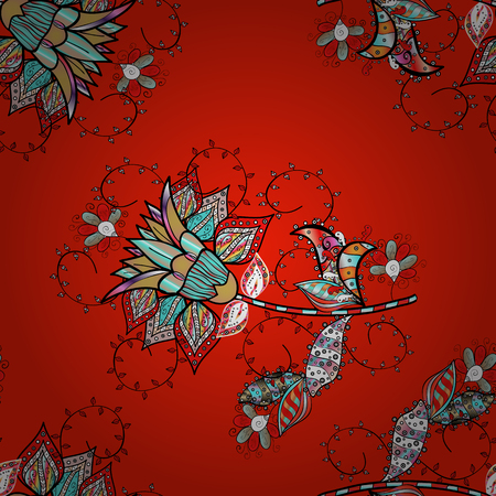 Cute Floral pattern in the small flower. Vector illustration. Fashionable fabric pattern. Seamless Tony fabric pattern. 일러스트