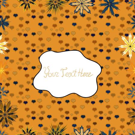 Se puede utilizar en papel tapiz, impresiones de tazas, ropa de bebé, cajas de embalaje, etc. Vector - stock. Patrón de tela hermosa sin costuras. Bonito fondo. Naranja, blanco y marrón en colores. Garabatos lindo patrón.