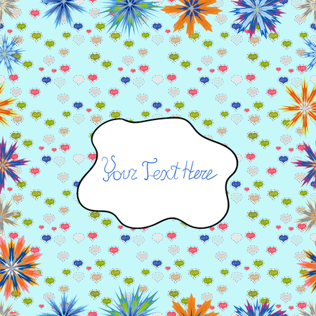 Abstract elegance seamless pattern with floral background. Vector Nice fabric pattern.