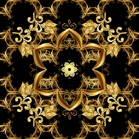 Elegant vector classic pattern. Seamless abstract background with repeating elements. And golden pattern.