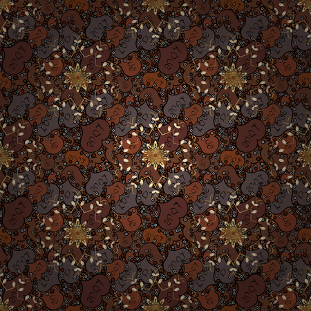 Ornament brown, black and white colored card with mandala. Tribal, Boho, Bohemian style. Geometric circle vector element. Kaleidoscope, medallion, yoga, india, arabic.
