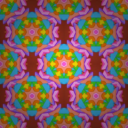 Conception de papier d'emballage et cadeau, de cartes de voeux, de bannières et d'affiches. Varicoloorange, illustration vectorielle transparente bleu et rose.