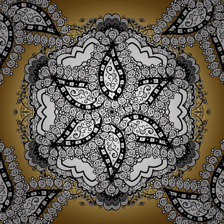 Mandala colored background. Arabic Vintage decorative ornament. East, Islam. Vector Mandala pattern on white, black and gray colors.