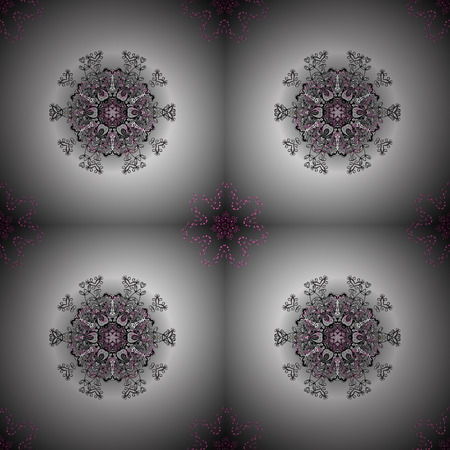Tribal, Boho, Bohemian style. Ornament gray, neutral and white colored card with mandala. Kaleidoscope, medallion, yoga, india, arabic. Geometric circle vector element. 向量圖像