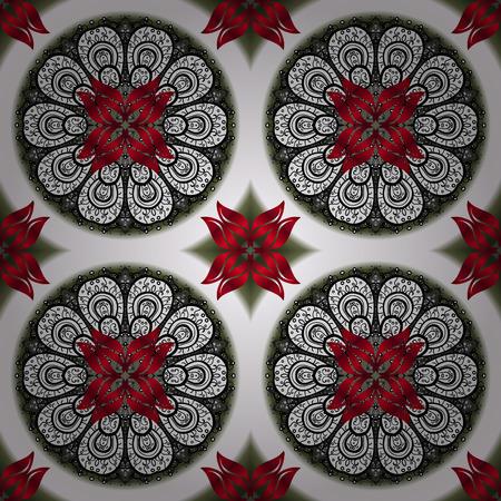 For invitation card, scrapbook, banner, postcard, tattoo, yoga, boho, magic, carpet, tile or lace. Decorative vector ornate colored mandala icon colored Mandala on a neutral, white and black colors.