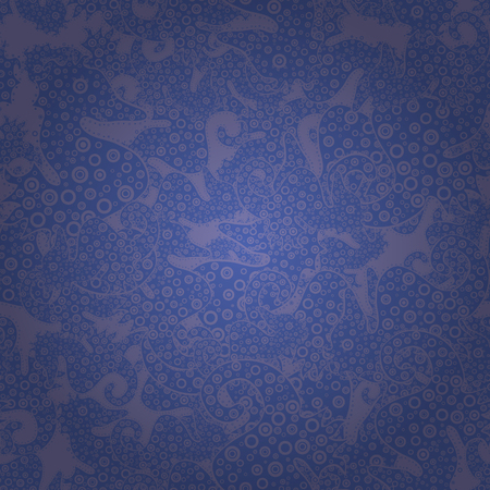 Seamless pattern Elegant decorative ornament for fashion print, scrapbook, wrapping paper, sketch. Images on a blue and violet colors Vector illustration.