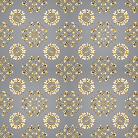 Sketch baroque, damask. Seamless floral pattern. Seamless vector background. Graphic modern seamless pattern on gray, beige and white colors.