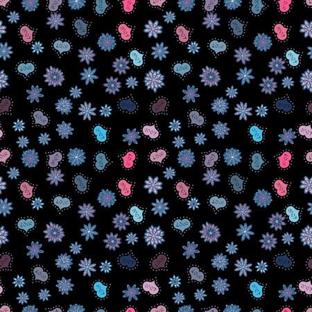 Seamless vector love background. Valentine heart love seamless pattern with heart. Heart pattern.