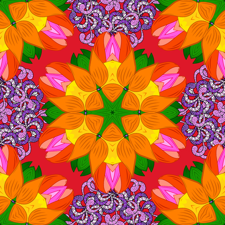 Seamless pattern in small flower. Vector illustration. Beautiful fabric pattern. Cute floral background.