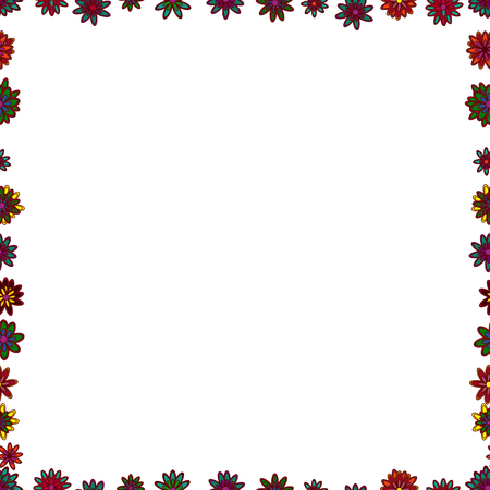 Seamless pattern. Vector Background seamless pattern with hand drawn Frame doodle. Doodles frame consists of white, red and green border.