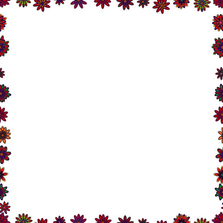 Seamless pattern. Vector. Comic style doodle frame consists of white, brown and red border. 일러스트