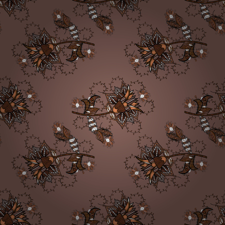 Vector illustration. Fashionable fabric pattern. Seamless Tony fabric pattern. Cute Floral pattern in the small flower.
