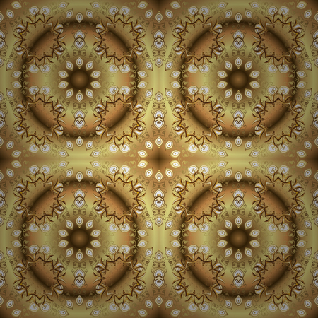 Seamless abstract background with repeating elements. And golden pattern. Elegant vector classic pattern. Illustration