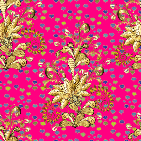 Organic motif background. Seamless pattern. Vector illustration. Ultrafashionable fabric pattern.